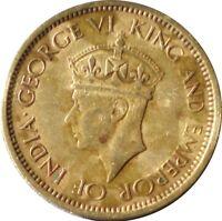 CEYLON 1943  50 CENTS COIN