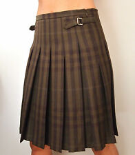 BNWOT STUNNING BURBERRY LONDON BROWN WOOL NOVA CHECK SKIRT---UK 8 USA 6