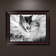 DIY 5D Diamond Embroidery Painting Wolves Cross Stitch Home Wall Decor