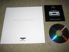 Bentley Continental Supersports Press Kit Prospekt Brochure von 2009, 28 Seiten
