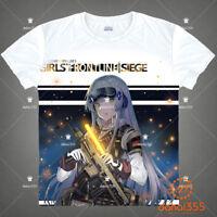 New Anime Girls Frontline White Men's Unisex Short Sleeve T-Shirt Tee Tops#K15