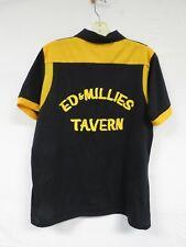 Vintage 70s 80s Bowling Shirt Tavern Black Uniform Jersey Sport Rockabilly Brad