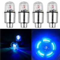 4Pcs LED Car SUV Wheel Tyre Tire Air Valve Stem Caps Decoration Light Lamps Blue