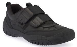 Start-Rite FEARLESS Boys Black Leather Riptape School Shoes 10 - 12 EFG BNIB