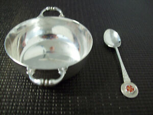 England Haseler & Restall sterling spoon~Gotscher & Co silverplated bowl silver