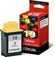 Cartucho Genuino LEXMARK 19 Color se ajusta como 20 y 25 Garantía 2YR Envío rápido