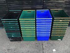 More details for 10 x deep bail arm crates / bale arm supermarket plastic boxes 60-40-25cm