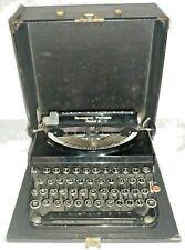 1930s Antique Remington Portable Model 5 Typewriter w/Case & Red Key WORKS! 1935
