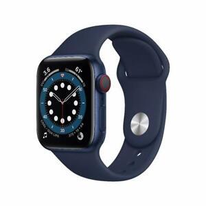 Apple Watch Serie 6 GPS + Cellular, 40mm in alluminio azzurro con cinturino S...