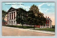 Penobscot County Courthouse & Jail, Bangor ME, Vintage Postcard Z44