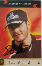 JACQUES VILLENEUVE HAND SIGNED PROMO CARD / PHOTO COA - OFFERS ACCEPTED