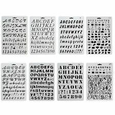 8x/set DIY Alphanumeric Letter Journal Plastic Planner Stencil Drawing Templates