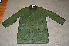 Barbour A200 BORDER Green 100% Waxed Cotton Jacket Fish Shoot Hunting C40/102CM