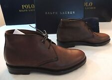 $895 Ralph Lauren Collection Maury Leather Italy Chukka Boot Ankle Shoes 9 BROWN