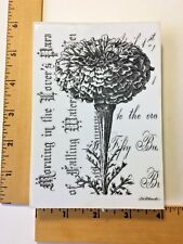 La Blanche Flower with Word Background Stamp - NEW