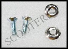 Lambretta Head Light Lamp Rim Screw Washer Set of 4 LI Series 1/2 X 2