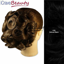 Clip in Hair Bun - Deconstructed Rose - Ringlet Style Hairpiece - Bridal Wedding