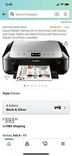Canon PIXMA MG6821 Black/Silver Wireless All-In-One Inkjet Printer