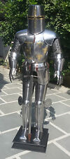 Medieval Crusader Knight in Suit of Armor & Sword Full Size Body Suit