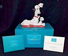 NEW WDCC sculpture figure 101 Dalmatians PROUD PONGO & Pups Disney NIB COA + Box