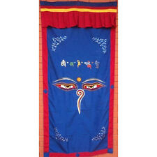 Blue Wisdom Eye Cotton Door Curtains, NEPAL