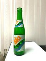 Vintage Soda Pop Beverage Bottle  - ACL -  Ski - 10 Oz