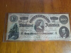 Confederate States of America $100 Richmond Feb 17, 1864