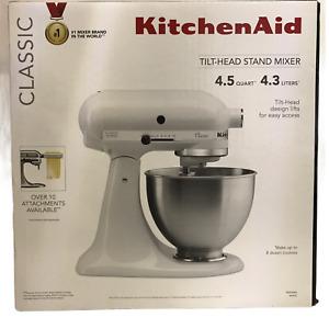 Kitchenaid Classic 4.5 QT Tilt Head Stand Mixer New In Box 3 Attachments Sealed