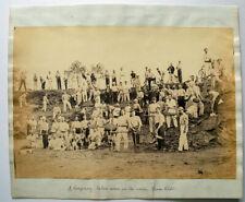 37th Hampshire Regiment, Ranikhet, India, c1870 - Old Photo