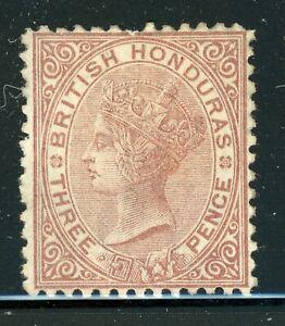 BRITISH HONDURAS MNG Selections: Scott #5 3p Brn VICTORIA WMK1 PERF 12½ CV$180+