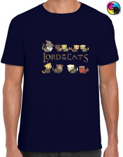 LORD OF THE CATS MENS T SHIRT FUNNY ANIMAL LOVER GIFT IDEA RINGS PARODY CAT