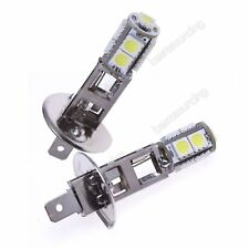 2x H1 9 SMD LED Feux Brouillard Route DRL Lampe Ampoule Blanc Xenon 6000K 12V