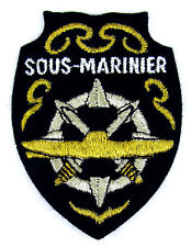 Ecusson brodé militaire ♦ INSIGNE BREVET COMMANDANT SOUS-MARIN