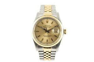 Rolex Oyster Perpetual  Datejust 36mm,champagne dial steel and yellow gold