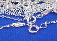 Wholesale 925 Sterling Silver Chain Women Men Necklace 16''-30'' New Lot Jewelry