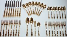 Oneida Golden Flirtation Flatware 43 Piece Set 1881 Rogers USA Gold Electroplate