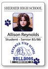 ALLISON REYNOLDS BREAKFAST CLUB NAME BADGE & BUTTON HALLOWEEN COSPLAY PIN BACK