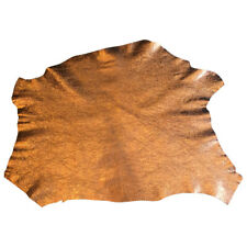 Copper Metallic Leather Hide Lambskin Fabric Craft Supply Sewing Material FS920