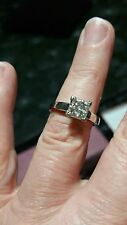 14k White Gold Solitaire Engagement & Wedding Ring Sets