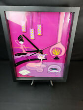 Pink Panther 40th Anniversary 3D Wall Clock by Shag 2004 Gently Used