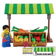LEGO Market Stall - Fruit & Veg Greengrocer supermarket stall with banana figure