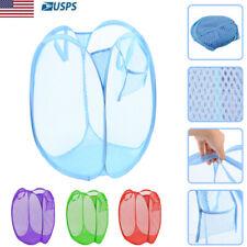 Laundry Basket Large Pop Up Foldable Mesh Hamper Washing Clothes Bag Storage Bin