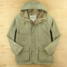 vtg usa made WOOLRICH woman lined jacket coat LARGE distressed winter parka