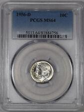 """1956-D 10C Roosevelt Dime PCGS MS64 """"REVERSE TONED"""""""