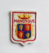 BLASON Brodé Ecusson ville Manosque - hauteur 6,5 cm