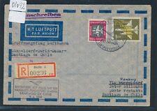 08092) LH FF Hamburg - Chile 9.4.58, Reco ab DDR, 120PF MiF
