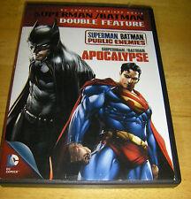 Superman/Batman Double Feature: Public Enemies/Apocalypse (DVD, 2012, 2-Disc...