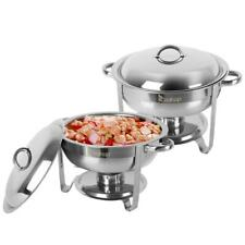 2 Pack Full Size Buffet Catering Stainless Steel Chafer Chafing Dish Sets 5 Qt