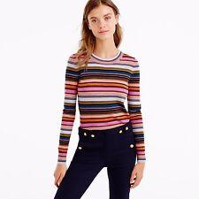 J Crew Rainbow Stripe Sweater; S