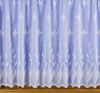 APRIL LUXURY NET CURTAIN WHITE OR IVORY  Price Per Meter - Free Post